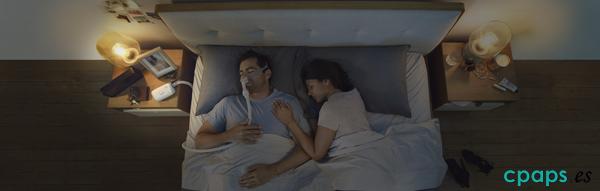 Fotografía ambiental de tratamiento CPAP con P10 para AirMini