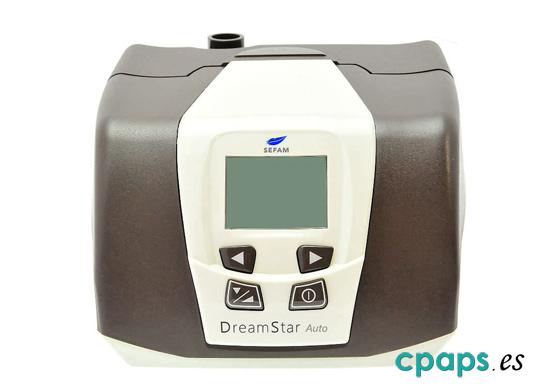 Frontal de CPAP Sefam DreamStar Auto para tratamiento de apnea del sueño