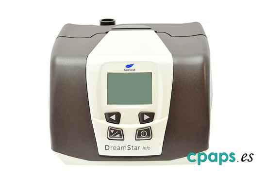 frente de CPAP Sefam DreamStar Info para tratamiento de apnea del sueño