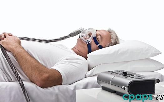 Máscara Mirage Quattro FX para CPAP de Resmed en persona